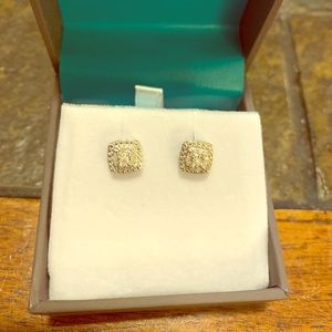 Real Diamond Studs in Sterling Silver
